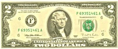 2 dollar bill image